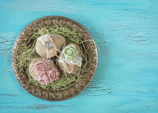 Vintage easter eggs Stock Image