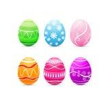 Vintage easter eggs design on white background. Vector illustration Stock Images
