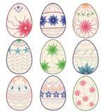Vintage easter eggs Stock Photo