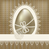 Vintage easter greeting card Royalty Free Stock Images
