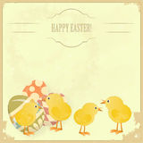 Vintage Easter greeting card Royalty Free Stock Photos