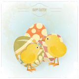 Vintage Easter greeting card Stock Photography