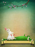 Vintage Easter postcard greeting Stock Photography