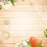 Vintage Easter wooden background Stock Image
