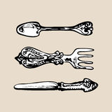 Vintage Eating Tools Royalty Free Stock Photography