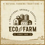 Vintage Eco Farm Label Stock Image