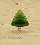 Vintage eco infographic. Vintage eco infographic with fir-tree. Vector illustration EPS10 Stock Image