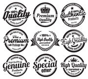 9 Vintage Ecommerce Badges Stock Images