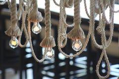 Vintage Edison Bulbs Ropes Photos libres de droits