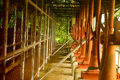 Vintage. Edited shot using Nikon D3100 18-55mm kit lens of pipes near the Bustos Dam in the Philippines Royalty Free Stock Image