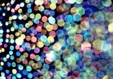 Vintage effect filter of Colorful blur bokeh Royalty Free Stock Photos
