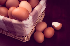 Vintage eggs color processed Royalty Free Stock Photos