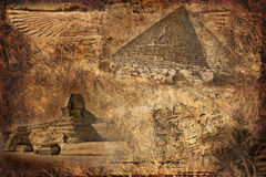 Vintage Egyptian background Royalty Free Stock Photography
