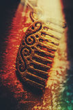 Vintage Egyptian gold comb Royalty Free Stock Images