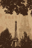 Vintage Eiffel tower  Royalty Free Stock Images