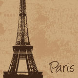 Vintage Eiffel tower  Stock Photography