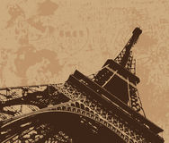 Vintage Eiffel tower  Royalty Free Stock Image