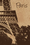 Vintage Eiffel tower  Royalty Free Stock Photos