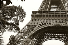 Vintage Eiffel tower Paris, France. Background royalty free stock images