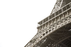 Vintage Eiffel tower Paris, France. Background stock image