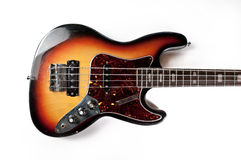 Vintage electric bass guitar Royalty Free Stock Photos