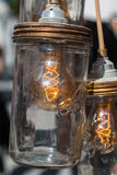 Vintage Electric Carbon Light inside Can. Vintage Electric Carbon Light, Amber Bulb Filament inside Can Stock Images