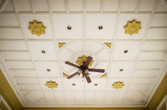 Vintage electric ceiling fan Stock Images