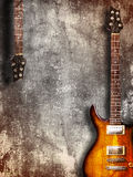 Vintage Electric Guitar Stock Image