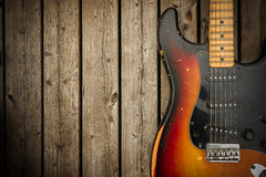 Vintage Electric Guitar Background Royalty Free Stock Photography