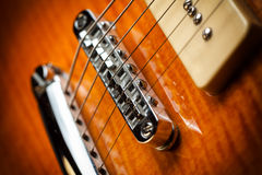 Vintage electric guitar Royalty Free Stock Photos