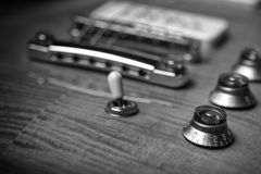Vintage electric guitar. Detail Picture of a vintage, classic electric guitar with shallow depth of field Stock Photography