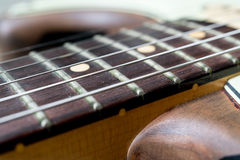 Vintage electric guitar fingerboard Stock Photo
