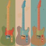 Vintage electric guitars royalty free illustration