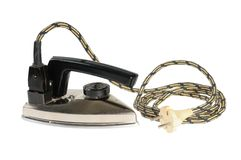 Vintage electric iron for travel Royalty Free Stock Images