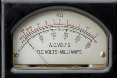 Vintage electric multimeter. Royalty Free Stock Photo