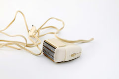 Vintage electric shaver with cable Royalty Free Stock Photo