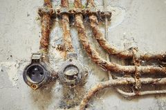Vintage electric switch Royalty Free Stock Photo