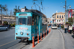 Vintage Electric Tramway Royalty Free Stock Image