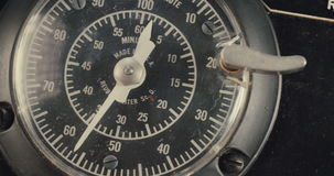 Vintage electrical dial. Macro shot of a Vintage electrical dial stock video