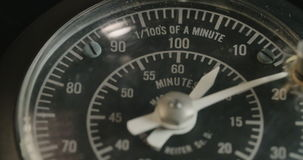 Vintage electrical dial. Macro shot of a Vintage electrical dial stock footage