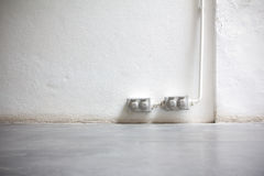Vintage electrical outlets on wall Stock Photos