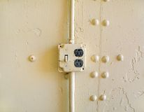 Vintage electrical socket Royalty Free Stock Photo