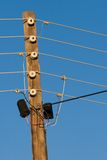 Vintage electricity pole Stock Photos