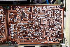 Vintage electronic board Stock Images