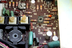 Vintage electronic board Royalty Free Stock Photography