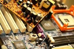 Vintage electronic circuit of a computer Stock Photos