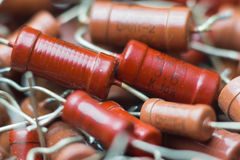 Vintage electronic parts, resistor Stock Image