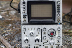 Vintage Electronic Screen and Dials Stock Photo
