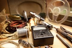 Vintage electronics. Royalty Free Stock Photo