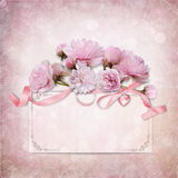Vintage elegance background with card and rose Royalty Free Stock Photography